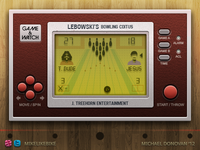 Handheld Video Game UI (The Big Lebowski)