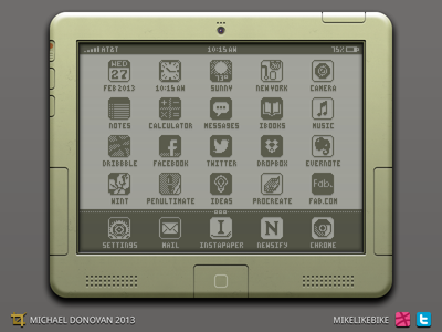 iPad Legacy Design UI iconography icons vector photoshop ui ios apple ipad homescreen switches toggles buttons 8-bit legacy