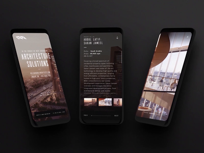 DARA: Mobile doha qatar responsive mobile ux ui motion design under construction web coming soon one page east architecture typography logo branding