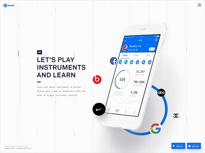 invstr — Website stock finance social design motion branding ui ux app ios website landing