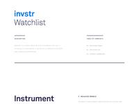 Watchlist attachment