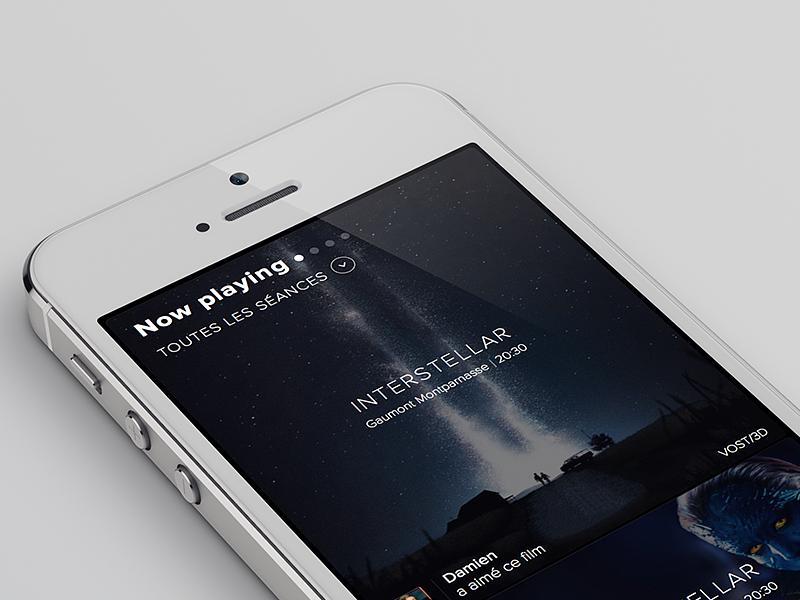 Movie App ui app iphone menu movie tickets ios mobile