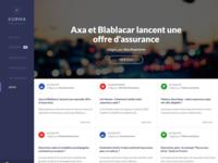 Homepage news design