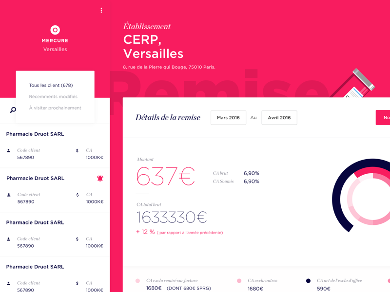 Commercial discounts App for CERP application web design ui discounts commercial