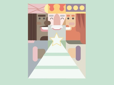 three wise men app appt color flat cover vectors illustration line christian navidad xmas icon