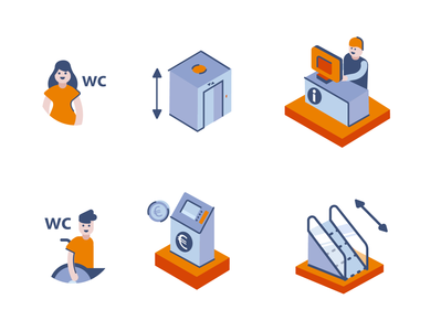Icons for a map