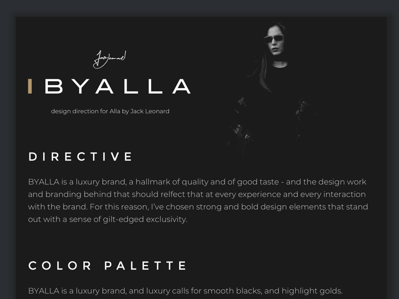 BYALLA - Design Brief luxury bold fashion design