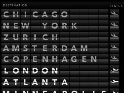 Departure Board / Clapper Board Illustration