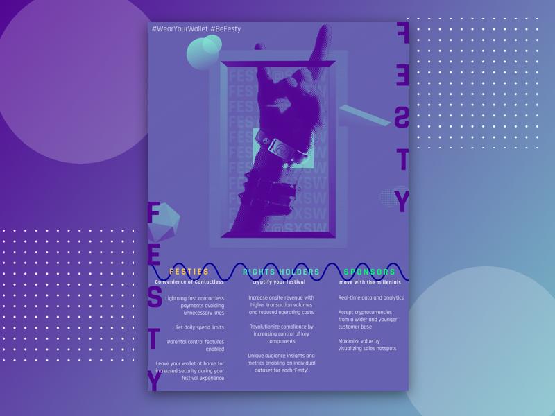 FESTY x SXSW - Poster Design crypto festy gradient design postmodernism