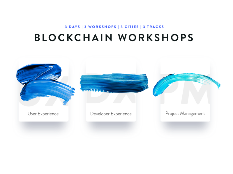 INK & PIXELS - Blockchain workshops conference cards design pixels photorealistic ink