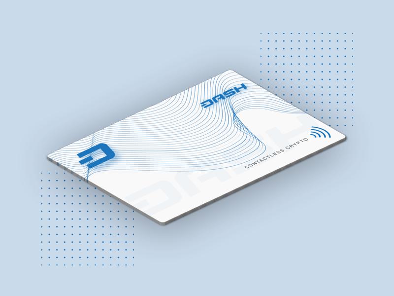 Dash Card - Contactless Crypto cryptocurrency crypto debt card dash