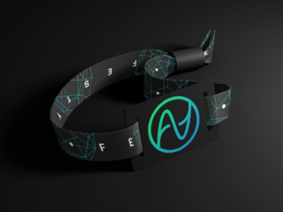 Festy - festival wristband design cryptocurrency conference concert festival wristband