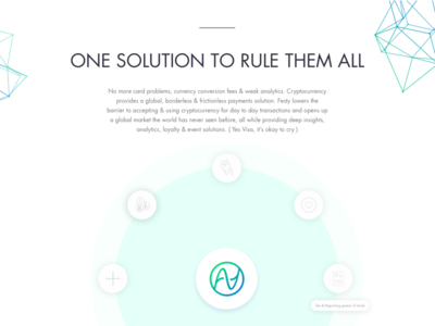One Solution to Rule them all - Website Section interactive features animated landing page crypto