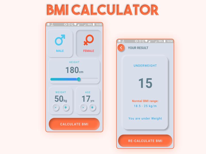 BMI Calculator | Soft UI experiment neumorphic design softui design