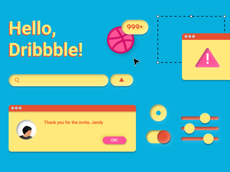*takes a deep breath*, Hello! hellodribbble hello dribble welcome welcome shot hello hci illustration uxdesign userinterface user interface uiux ui