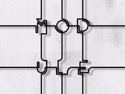 Module - Monoline Font