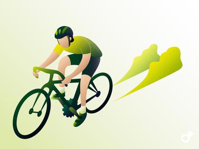 Cyclist bike cyclist character design character texture noise grain illustration art illustration