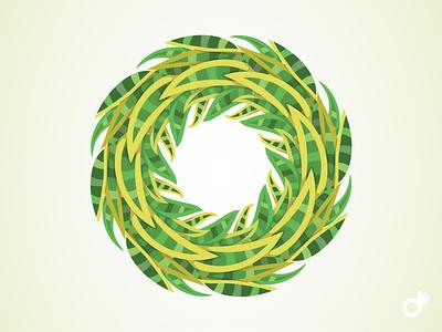 Exotic Plant : Sansevieria green circle circular pattern floral leaf plants exotic greenery leaves plant illustration art illustration