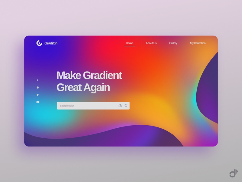 Make Gradient Great Again colorful search engine landing page color picker gradient gradient design color palettes color palette user interface ux design ux ui design