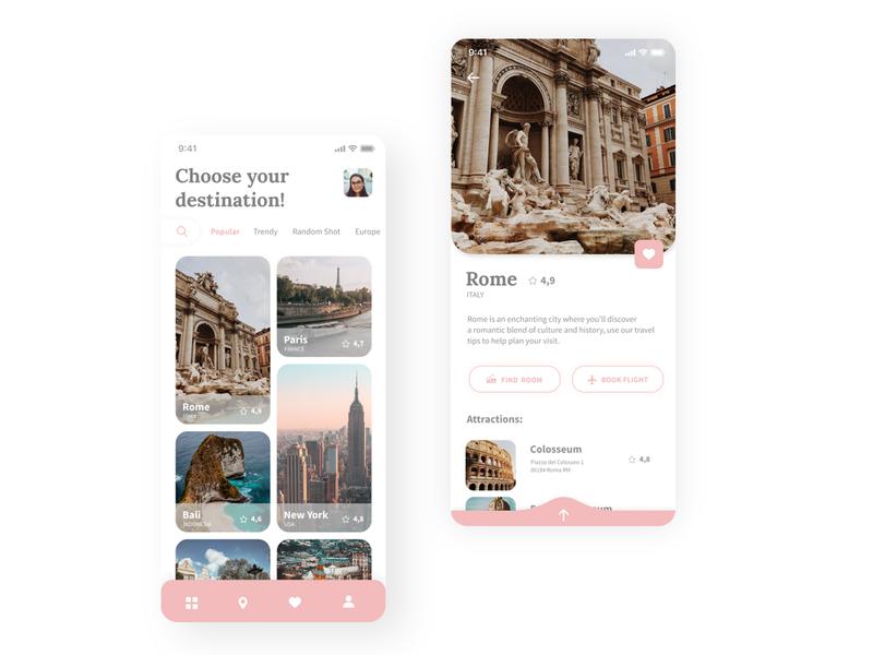 Travel App Design