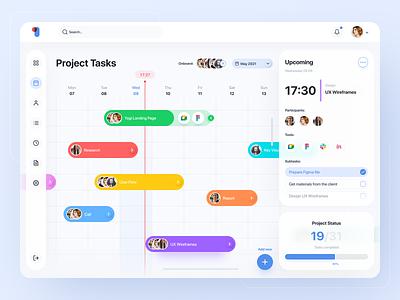 To do dashboard - Freebie interface gantt clean vibrant dashboard ui ux app tasks calendar project management figma to do task manager free freebie