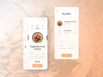 Food Delivery App Design ux minimalist design mobile ios app order delivery food