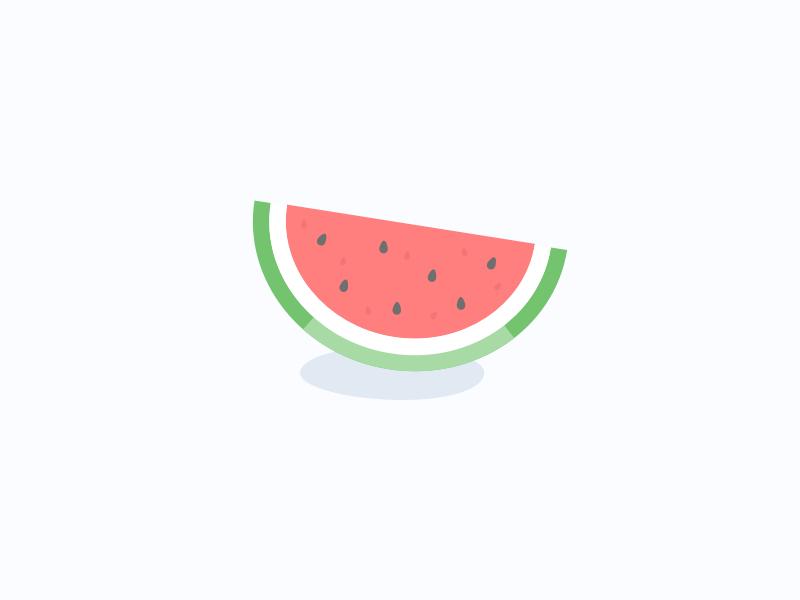 Watermelon cute illustration vector fruit watermelon