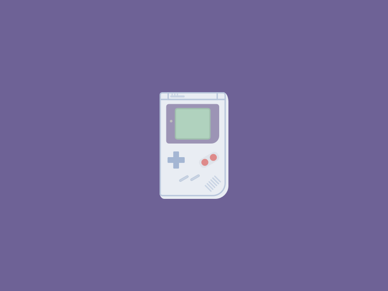 Game Boy vector console purple game boy illustration sketch