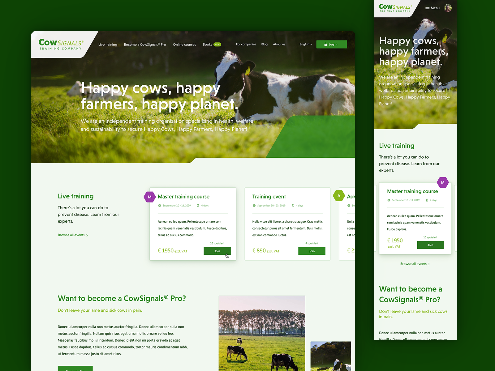 Farmers Homepage Layout