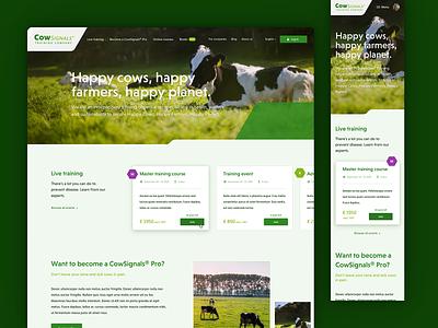 Farmers Homepage Layout clean ux web farmers farmer cows layout ui website homepage webdesign