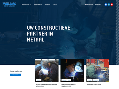 Construction Company - Homepage welding yellow blue web clean website layout ui ux homepage webdesign construction company construction website construction