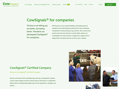 Farmers Subpages design farmers farmer cow cows web layout website typography ux ui webdesign