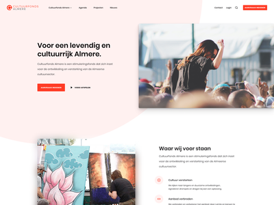 Culture Funds - Homepage branding clean website design typography web ui layout splash poppins orange screenshot webdesign funds culture homepage