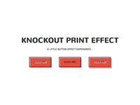 Knockout Print Button Effect
