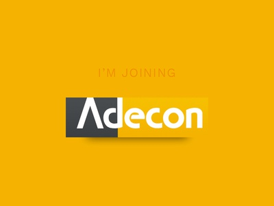 I've joined Adecon!