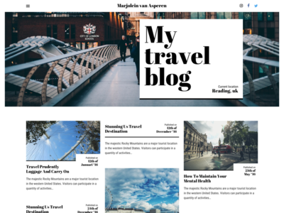 My Travel Blog - Work in Progress