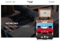 Vintage vinyl layout