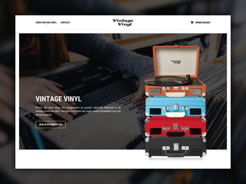 Vintage Vinyl - Webshop webdesign ux ui vinyl vintage homepage layout website shop webshop