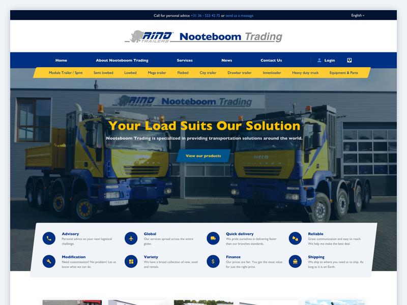 Transportation Website - WIP design ux ui layout web webdesign trucks transportation website