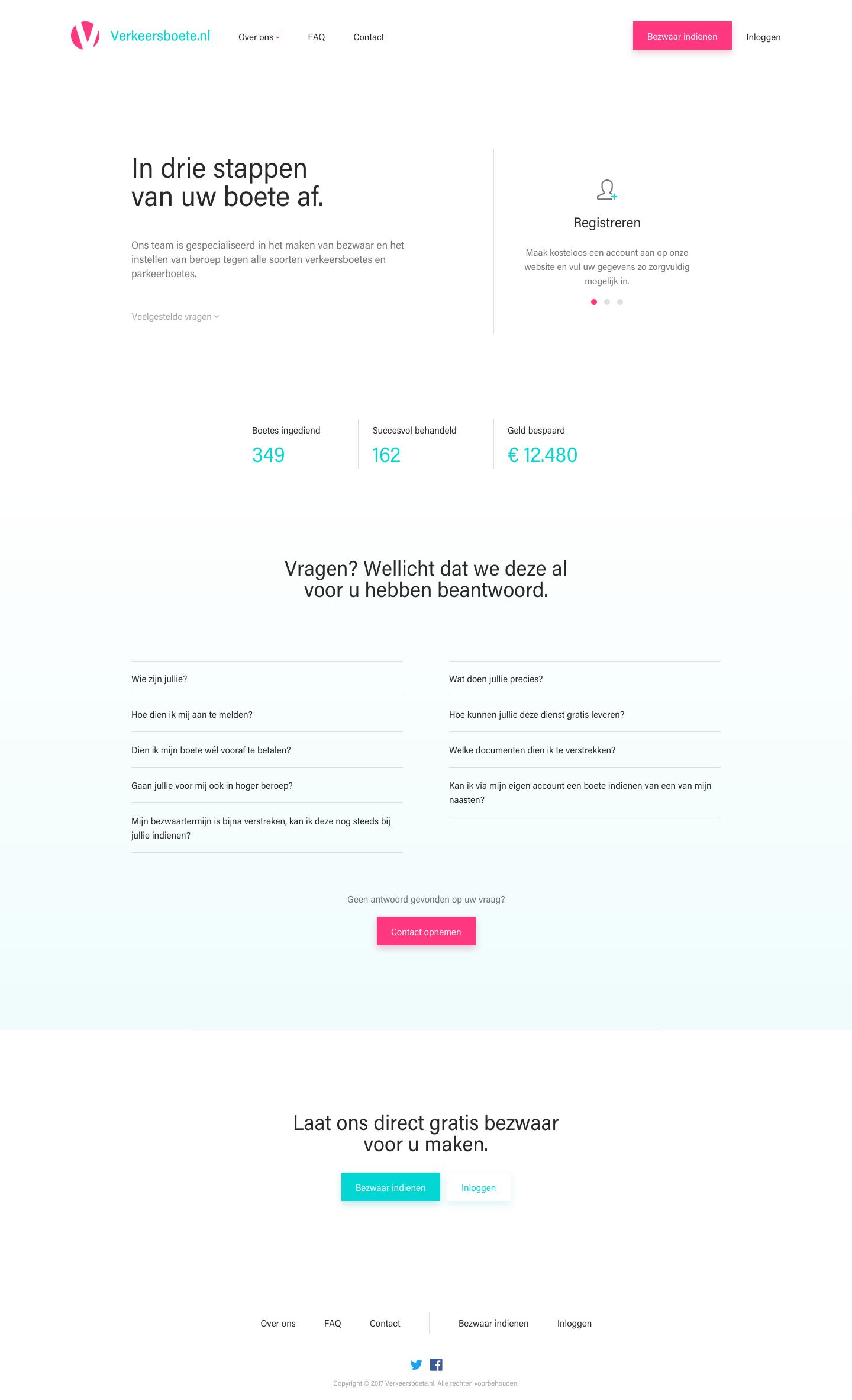 Verkeersboete homepage