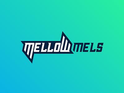 Mellow Mels Logo Type mark type dj vj logo concept design music gradient grabient