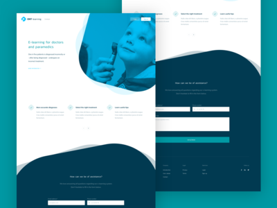 E-Learning Website layout design ux ui webdesign website homepage clean e-learning