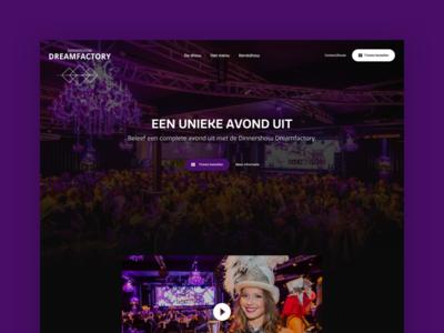Dinnershow Website dinnershow clean homepage website webdesign ui ux design layout