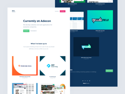 New personal website live! 🎉🎉🎉 filson pro dribbble personal portfolio clean homepage website webdesign ui ux design layout