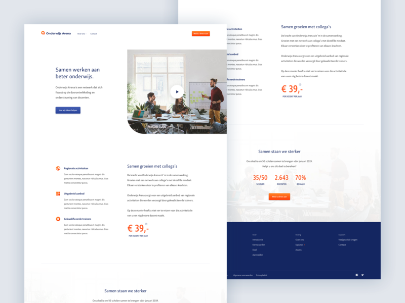 Educational Website Homepage 2x web clean webdesign ux education educational design homepage layout ui website