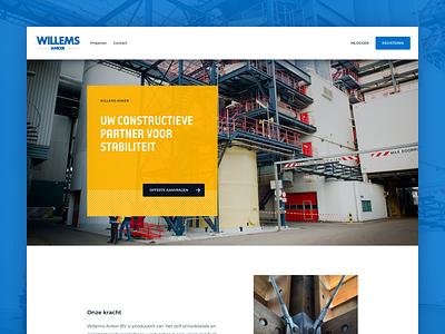Construction Website Homepage website layout construction homepage design ui ux webdesign clean web