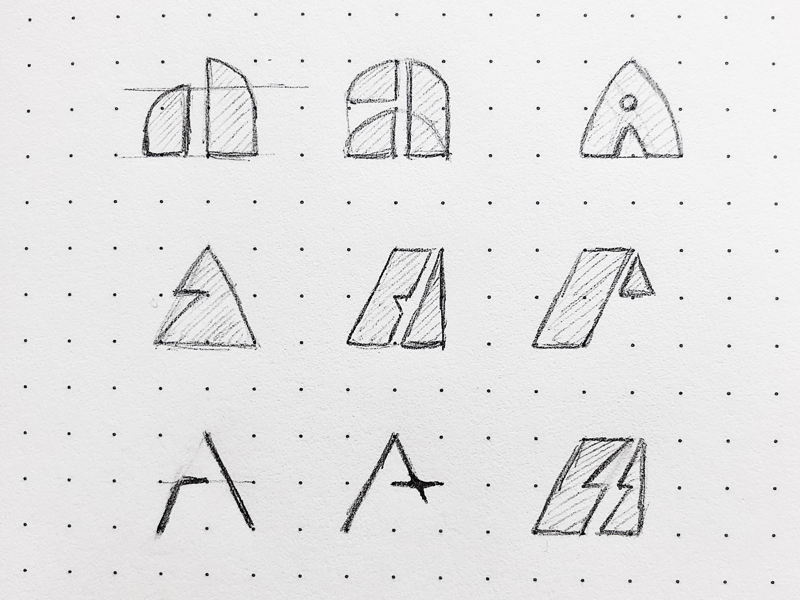 Sketching the alphabet - A concepts concept a branding brand mark logos logo sketching sketches sketch