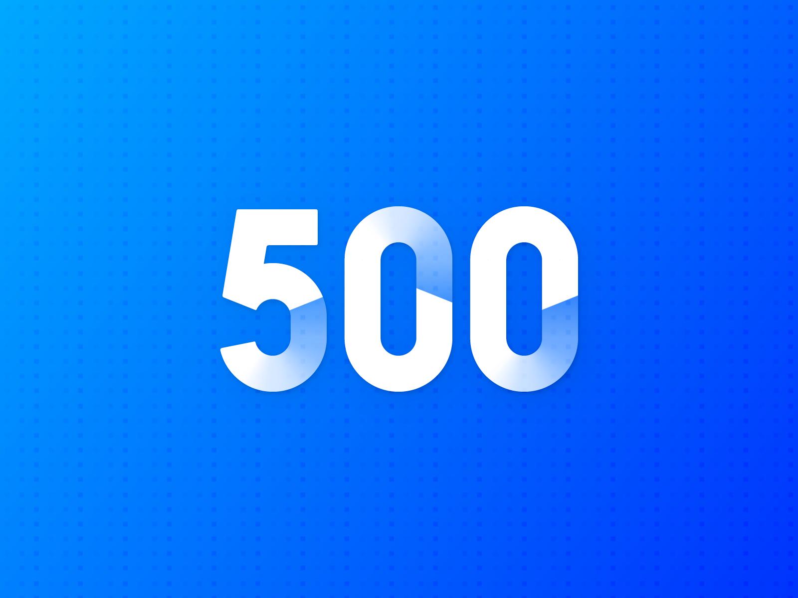 500+ Followers 🎉 shading shadow vector typography follow followers 500 illustration design