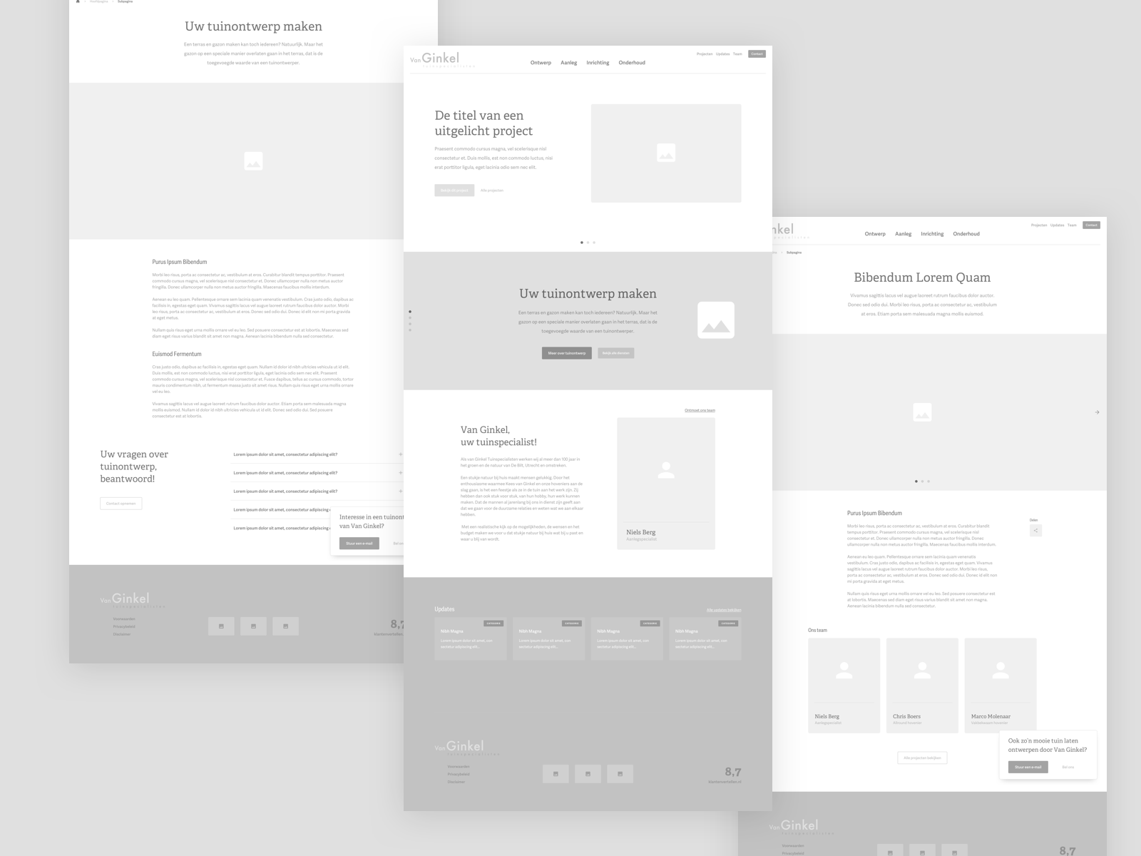 Landscaping Business Wireframes