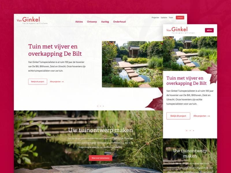 Landscaping Website Homepage Concept homepage design website webdesign layout ui ux homepage clean web design gardening landscaping